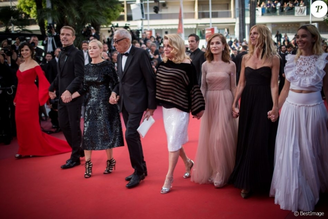 Andre Tehine și actorii săi în seara omagială ce i-a fost dedicată
