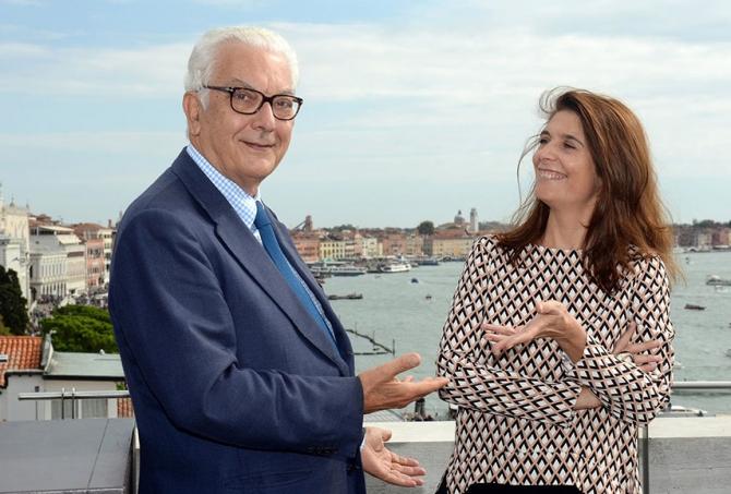 Paolo Baratta și Christine Macel