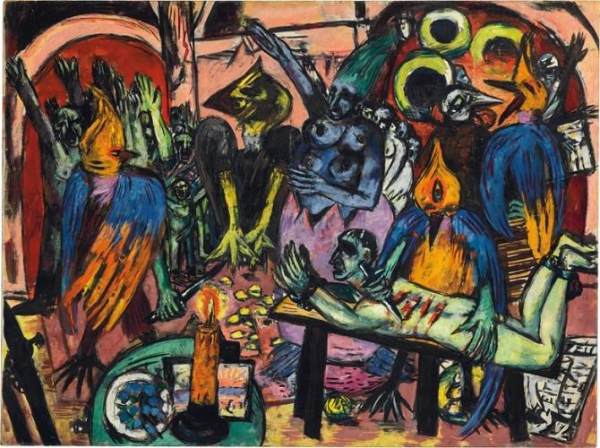 Max Beckmann, Infernul păsărilor