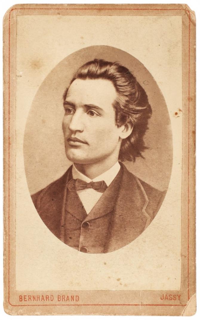 Portretul poetului la 19 ani, fotografie rară de Bernhard Brandt