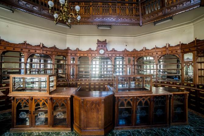 Casa cu farmacie Gheorghe Hotăranu, interior