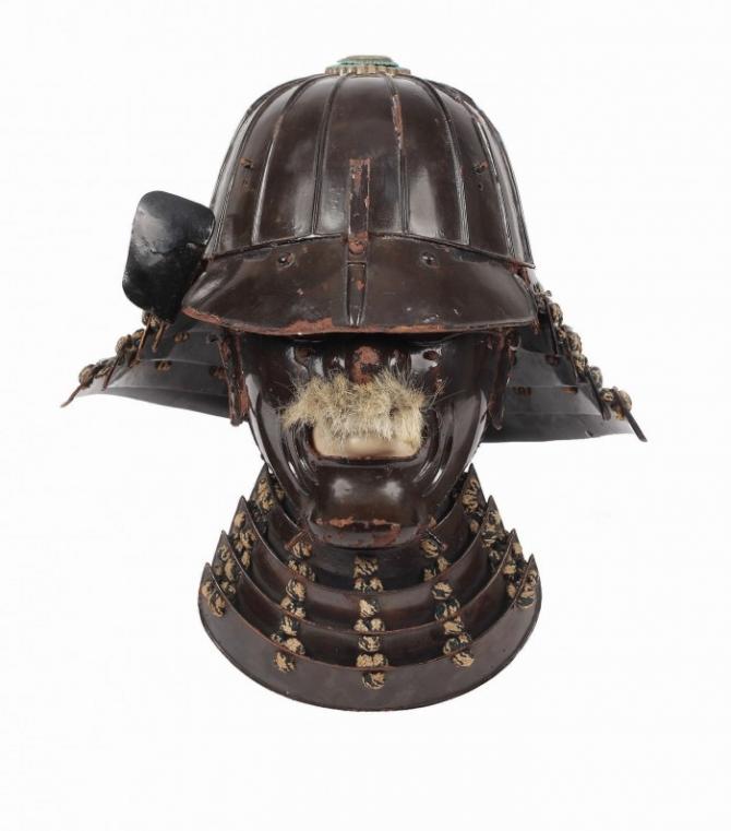 Cască şi mască de samurai, perioada Edo