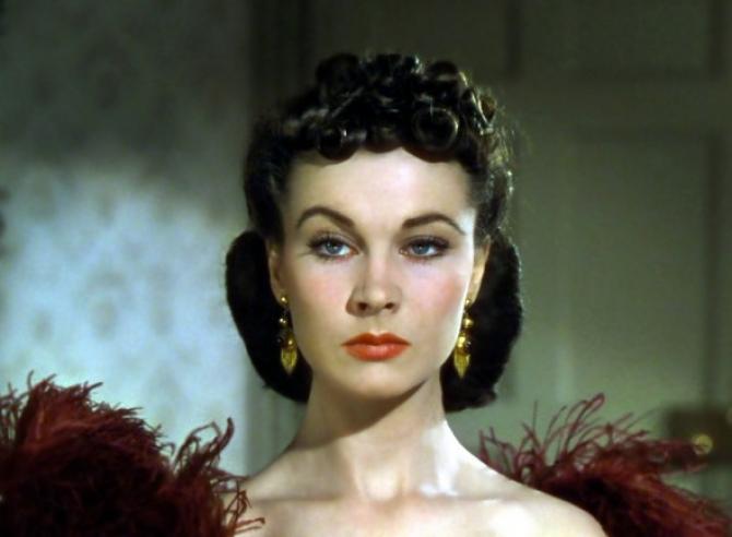 Vivien Leigh în rolul Scarlett O'Hara