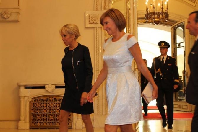 Brigitte Macron- Carmen Iohannis