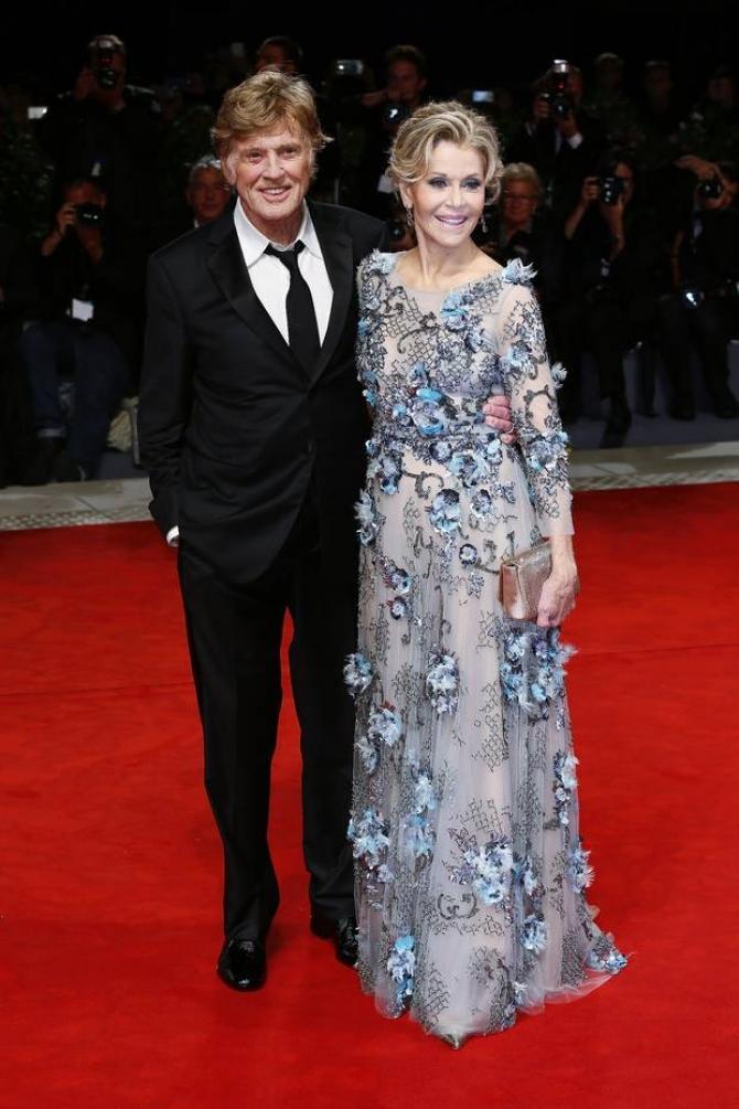 Robert Redford si Jane Fonda pe   covorul rosu