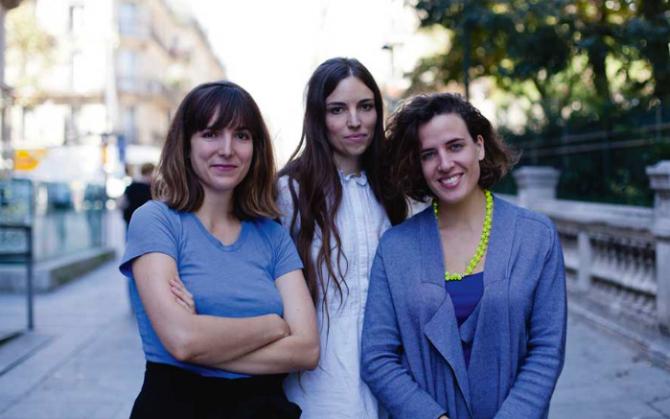 Aurélie Charon, Caroline Gillet și Amélie Bonnin