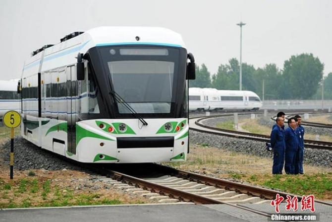 Primul tramvai din lume cu propulsie pe bază de hidrogen și supercondensatori. foto: chinadaily.com