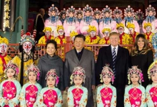 Donald Trump si Xi Jinping, Beijing. foto: Twitter @realDonaldTrump