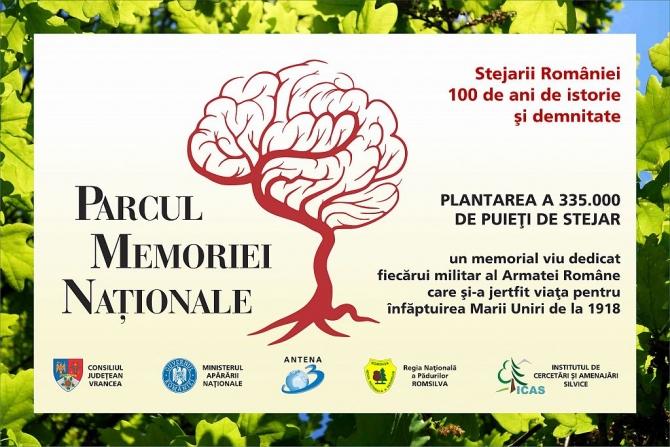 Parcul Memoriei Naţionale - RoMândria 50.000 de stejari, pe 10 hectare