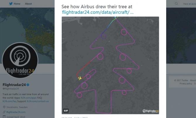 foto: Twitter / Flightradar24