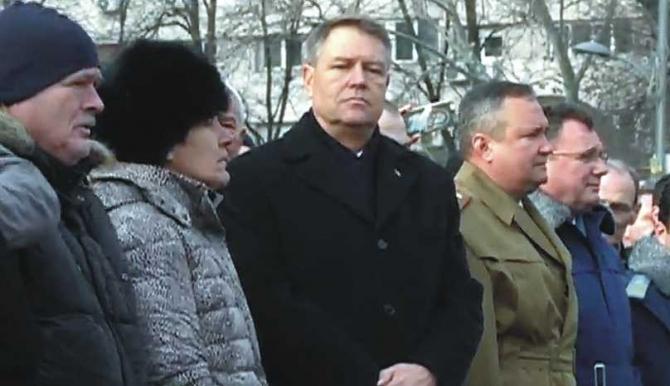 Presedintele Iohannis in Piata Universitatii, 21 decembrie 2017
