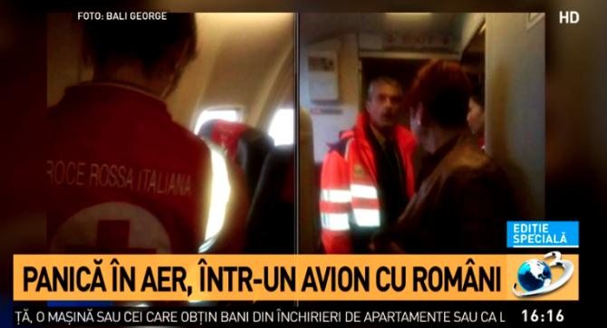 Avion Blue Air aterizare de urgență la Palermo