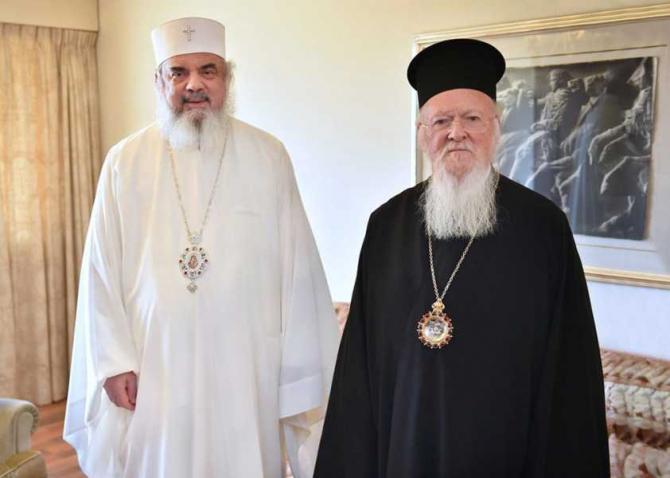 Patriarhul Bisericii Ortodoxe Române, Daniel, şi Patriarhul Ecumenic Bartolomeu