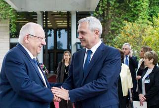Liviu Dragnea, a avut joi, 26 aprilie, o întrevedere cu președintele Statului Israel, Reuven Rivlin.