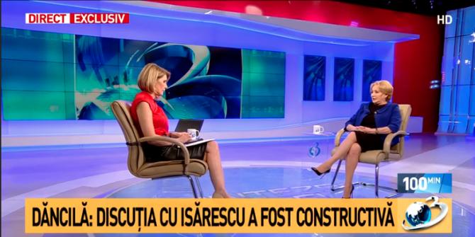 Viorica Dăncilă, Antena 3