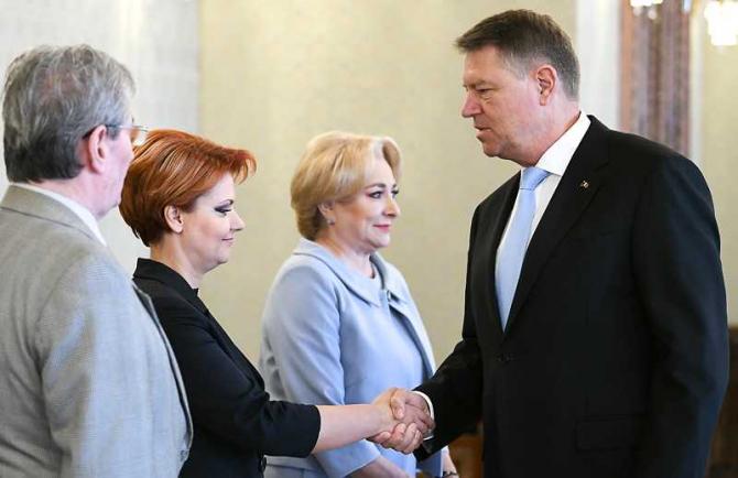 Olguta Vasilescu, Klaus Iohannis, intalnire