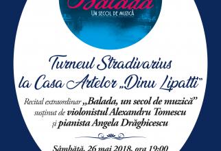 """Casa Artelor """"Dinu Lipatti"""", recital extraordinar al violonistului Alexandru Tomescu"""