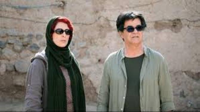 Behnaz și Jafar Panahi în filmul 3 chipuri