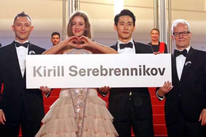Cannes 2018. Echipa filmului Vara și numele celui absent; regizorul Kirill Serebrennikov