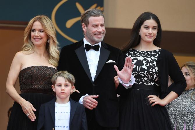 Cannes 2018. John Travolta a venit la Cannes cu întreaga familie