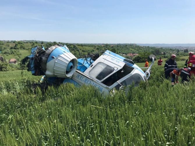 Elicopter prăbușit la Turda. Intervenție de urgență