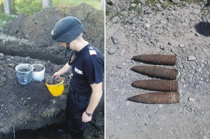 Proiectile descoperite în Vrancea