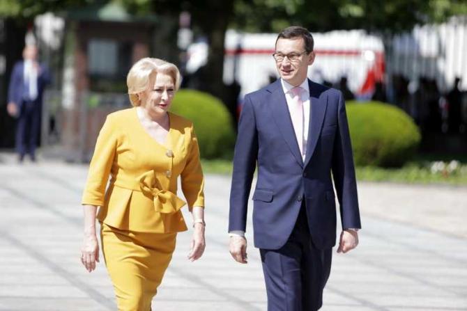 Ceremonia oficială de primire a prim-ministrului Viorica Dăncilă de către omologul său Mateusz Morawiecki