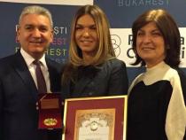 Simona Halep, alături de părinții săi