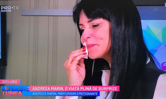 Andreea Marin, în lacrimi