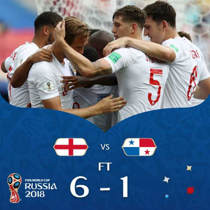 Anglia-Panama. foto: facebook / @fifaworldcup