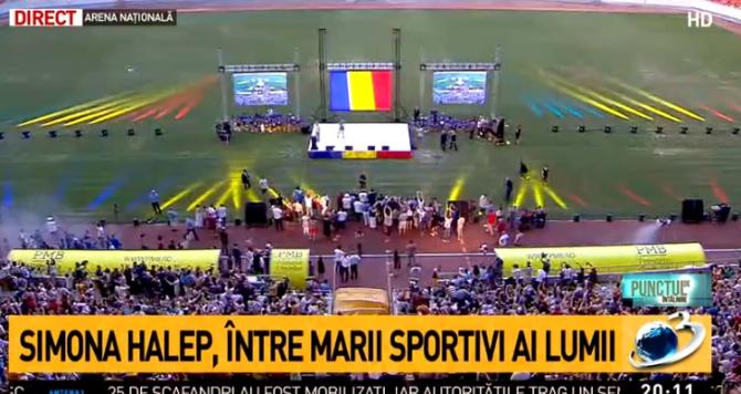 Gabriela Firea, huiduită pe Arena Națională la evenimentul dedicat Simonei Halep