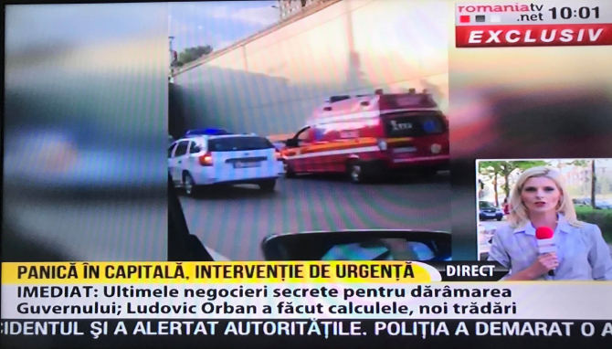 Un bărbat s-a aruncat după un pasaj în București