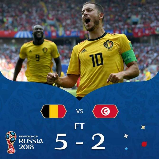 Belgia-Tunisia / facebook @fifaworldcup