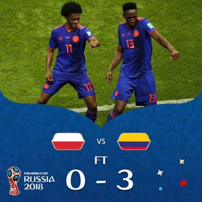 Columbia-Polonia, foto: facebook / @fifaworldcup