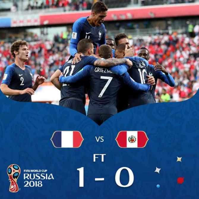 Franta - Peru, facebook @fifaworldcup