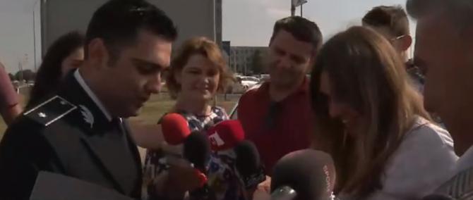Simona Halep oprita de politie