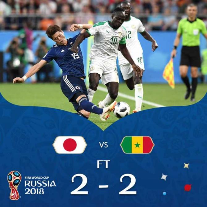 Japonia - Senegal, foto: facebook / @fifaworldcup