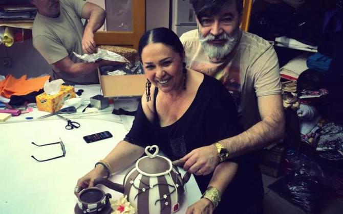 Liza Panait şi soţul său