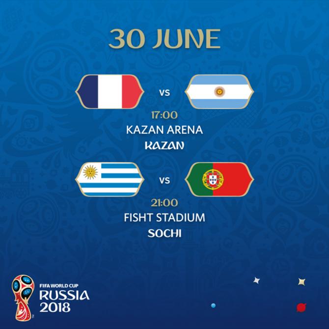Program meciuri sâmbătă, 30 iunie, CM 2018 foto: facebook / @fifaworldcup