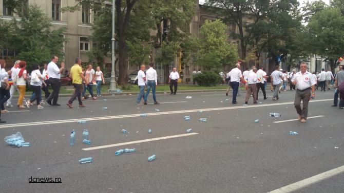 Miting PSD, 9 iunie. Imagini dezolante din Piața Victoriei