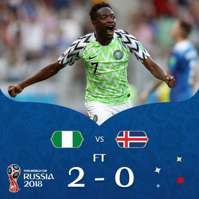 Nigeria-Islanda, facebook @fifaworldcup