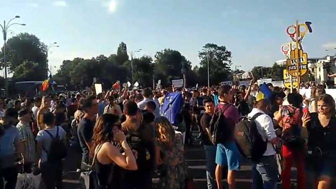 Proteste Piaţa Victoriei
