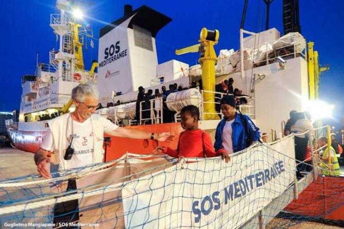 foto: facebook SOS MEDITERRANEE / @SOSMEDITERRANEE