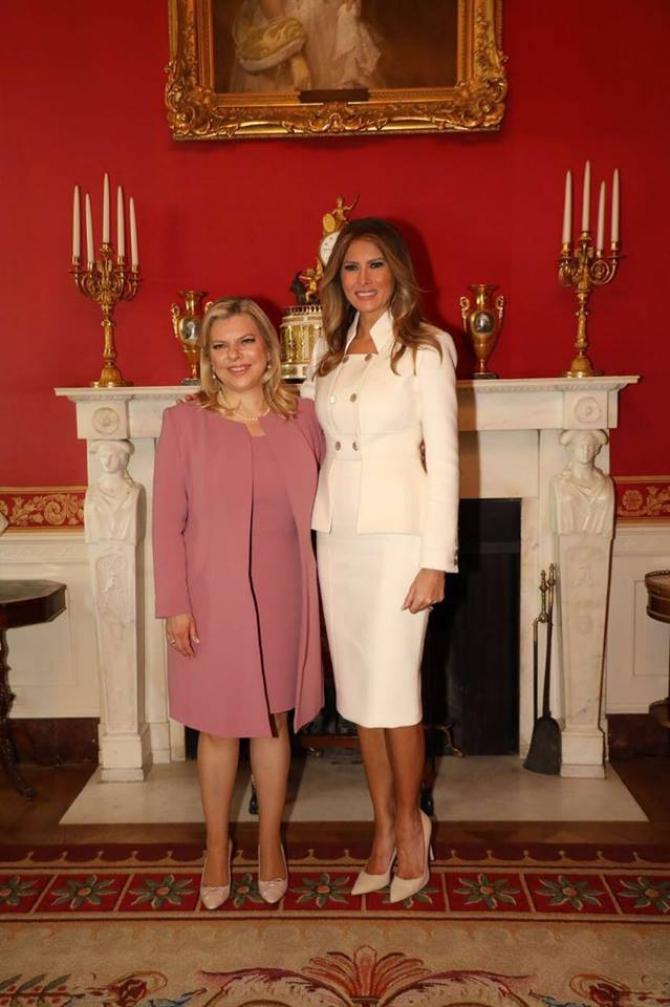 Soția premierului israelian, alături de Prima Doamnă a Statelor Unite