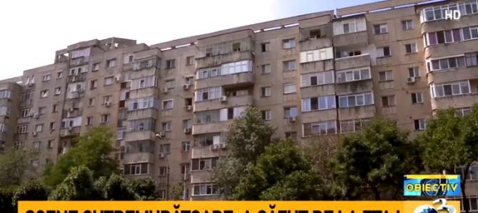 O femeie a căzut de la etaj. Scene cutremurătoare