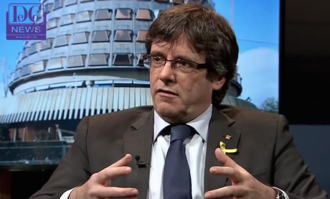 Carles Puigdemont, interviu. foto: captură video