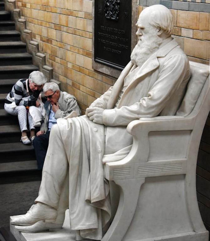 Statuia lui Charles Darwin