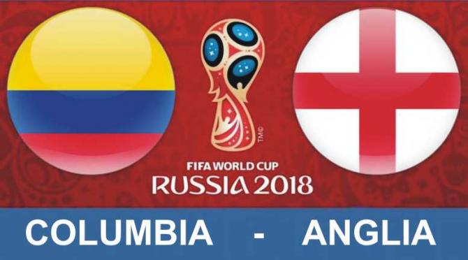 Columbia - Anglia rezultat optimi de finală Campionatul Mondial 2018