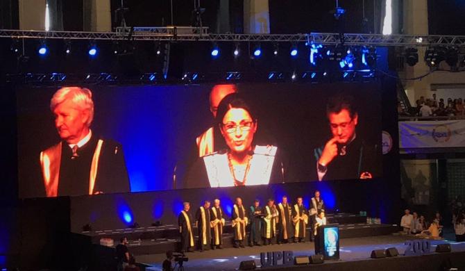 Ecaterina Andronescu, la festivitatea de absolvirea a promoției 2018 UPB