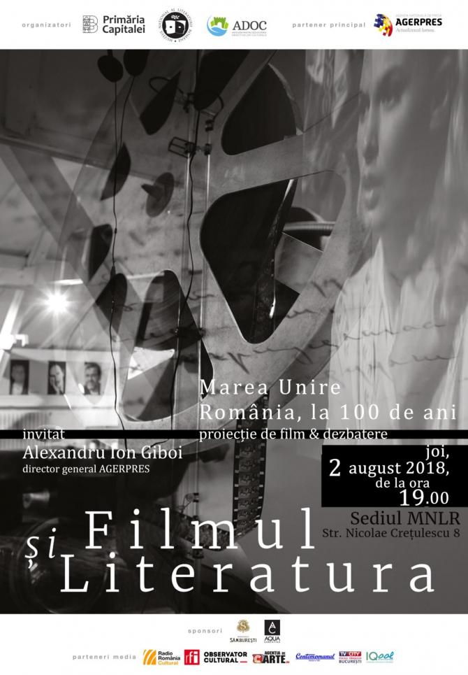 Filmul și literatura – Marea Unire, România la 100 de ani
